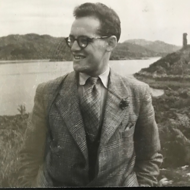 Picture of Arthur Purdon looking out over water smiling at the scene